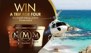 Network Ten – The Bachelor & Magnum – Win a grand prize of a trip for 4 to Satellite Island, Tasmania OR 1 of 61 minor prizes of a $50 Uber Eats voucher each