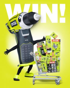 Ryobi – Father's Day Dad's Dash – Win a Bunnings trolley dash shopping spree up to $3,000