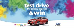 Subaru – Book a test drive to Win a prize pack including the use of a Subaru Impreza for 3 nights and more