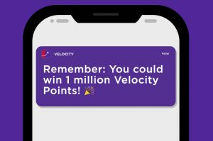 Velocity Frequent Flyer – Download the app to Win 1 million Points weekly