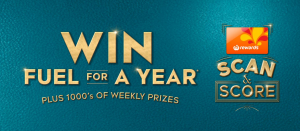 Woolworths Rewards – Scan & Score – Win fuel for a year OR weekly prizes