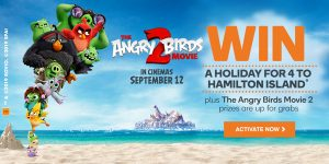 Woolworths Rewards – Win a major prize of a trip for 4 to Hamilton Island OR 1 of 50 Family movie in-season to Angry Birds 2
