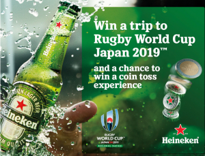 Woolworths Rewards – Win a trip to Rugby World Cup Japan 2019 and a chance to Win a coin toss experience