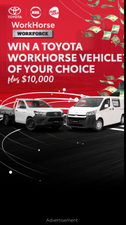 ARN – Win a Brand-New Toyota Hilux Or Hiace From The Toyota Workhorse Range (prize valued at $72,000)