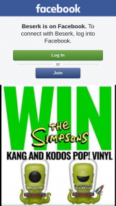Beserk – Win a Rare Kang & Kodos The Simpsons Sdcc Pop Vinyl