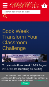 Bloomsbury Publishing Book Week Transform Your Classroom Challenge – Win a Harry Potter Prize Pack for Their School Library (prize valued at $1,000)