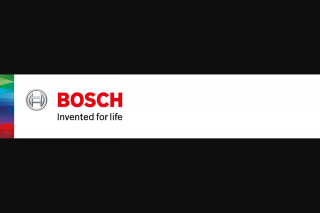 Bosch – Win One (1) Prize Each In The Promotion (prize valued at $835)