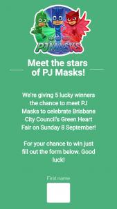 Brisbane City Council-Green Heart Fair – Win a Prize
