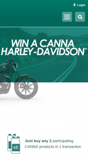 Canna – Win an Awesome Limited Edition Canna Black Harley-Davidson (prize valued at $31,999)
