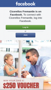 Cicerello's Fremantle – Win $250 to Spend at Cicerello's and Spoil Dad (prize valued at $250)