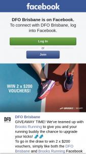DFO Brisbane Brooks Running – Win 2 X $200 Vouchers (prize valued at $400)