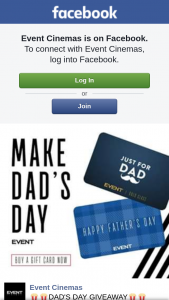 Event Cinemas Australia Fair – to Celebrate Father's Day We Will Be a $50 Event Gift Card