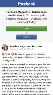 Families Magazine Brisbane – Win The Prize