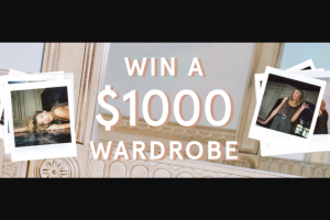 Glassons – Win a $1000 Voucher (prize valued at $1,000)