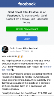 Gold Coast Film Festival – 3 Double Passes to Our Exclusive Invite-Only Preview Screening of at Last Next Wednesday 28th August at Home of The Arts