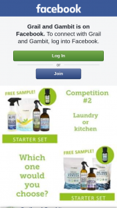 Grail and Gambit – Win Kitchen Or Laundry Pack When Reach 1ooo Fans