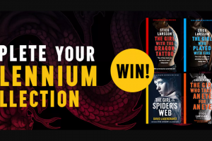 Hachette – The Entire Millennium Series to Two Lucky Readers So You Can Revisit Your Favourite Swedish Hacker Again and Again