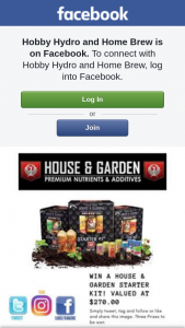 Hobby Hydro and Home Brew – Win a @houseandgardenaustralia Starter Kit Valued at $270.00. (prize valued at $270)