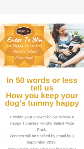 Holistic Select – Win a Happy Tummies Holistic Select Prize Pack