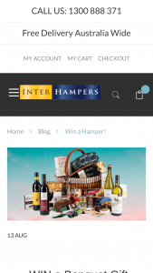 Interhampers – Will Be Announced Via Email (prize valued at $190)