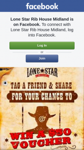 Lone Star Rib House Midland – Win a $50 Meal Voucher (prize valued at $50)