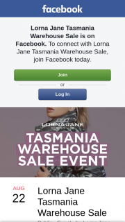 Lorna Jane Active – Must Be Able to Collect Their Prize During The Tasmania Warehouse Sale Event (prize valued at $1,300)