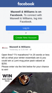 Maxwell & Williams – Win a Lumi Mug Prize Pack Valued at $250. (prize valued at $250)