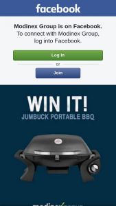 Modinex Group – Win a Jumbuck 1 Burner Portable Gas Bbq (prize valued at $149)