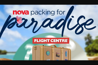 Nova 91.9 – Will Be Awarded One (1) Travel Prize for and Up to One (1) Companion (companion Must Be Aged 18 Years of Age (prize valued at $9,000)