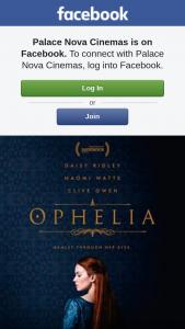 Palace Nova – 3 Double Passes to Ophelia