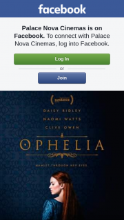Palace Nova – 3 Double Passes to Ophelia