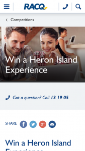 RACQ – Win a Paradise Experience for Two (prize valued at $4,638)