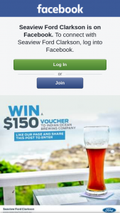 Seaview Ford Clarkson – Win a $150 Voucher to Indian Ocean Brewing Co (prize valued at $150)