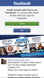 South Aussie With Cosi – Win a Free Night Out to See Some Awesome Comedy?