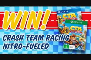 Student Edge – Win Crash Team Racing Nitro-Fueled (prize valued at $49)