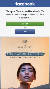 TEMPUS TWO – Win a $1000 Gift Card for French Connection (prize valued at $1,000)