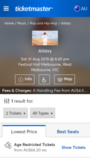 Ticketmaster – Win Meet and Greet With Allday