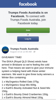 Trump Foods – Win this Too