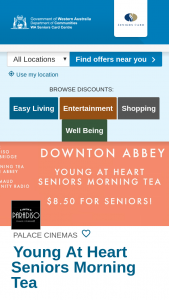 WA Seniors – Win One of Two Double Passes to Seniors Morning Tea for Downton Abbey at Cinema Paradiso on The 12th September 2019.
