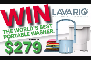 What's Up Downunder – Win a Lavario Portable Clothes Washer (prize valued at $279)