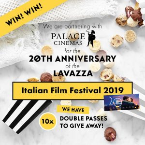 Byron Bay Cookies – Win 1 of 10 double tickets to the Lavazza Italian Film Festival 2019