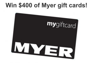 Click Frenzy – Win a $400 Myer gift card