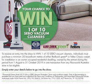 Floorworld – Win 1 of 10 Sebo vacuum cleaners