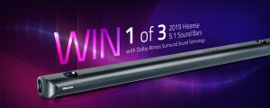 Hisense – Win 1 of 3 sound bars