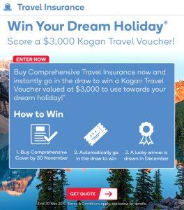 Kogan – Win a $3,000 Kogan Travel credit voucher