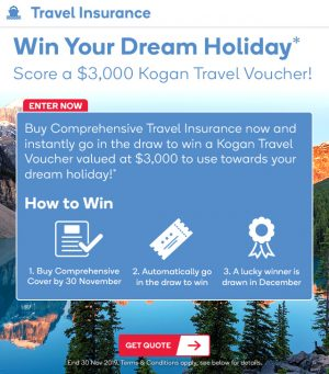 Kogan – Win a $3,000 Kogan Travel credit voucher