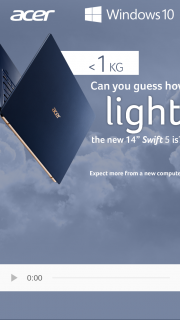 """Acer – Win a New 14"""" Acer Swift 5 All You Have to Do Is Guess The Weight of The Laptop Without Nvidia Graphics Card In Grams1 (hint It's Less Than 1000 Grams). (prize valued at $1,999)"""