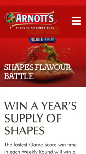 Arnotts – Win a Year's Supply of Shapes (prize valued at $166.4)