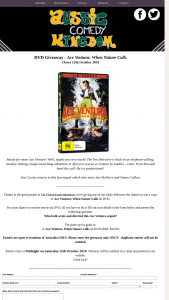 Aussie Comedy Kingdom – Win a Copy of Ace Ventura