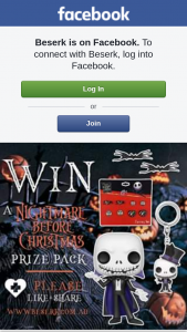 Beserk – Win &#9733 a Nightmare Before Christmas Prize Pack From Wwwbeserk&#9733 Just Like & Please Share The Pic to Enter